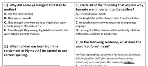 printable reading comprehension test with answers printable reading comprehension answers