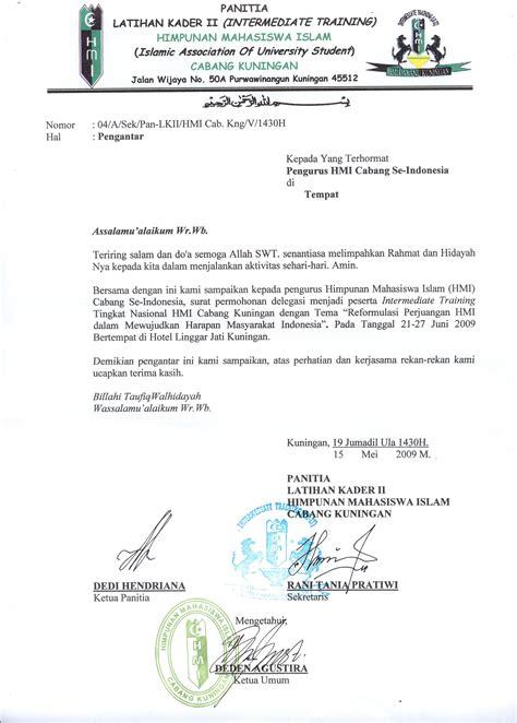 Contoh Surat Pengantar Sponsorship by Surat Pengantar Utusan Delegasi Cabang
