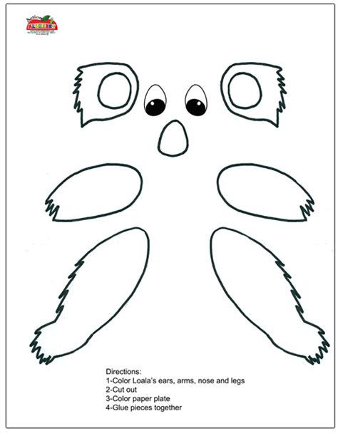 Letter K Activities Preschool Lesson Plans Koala Template