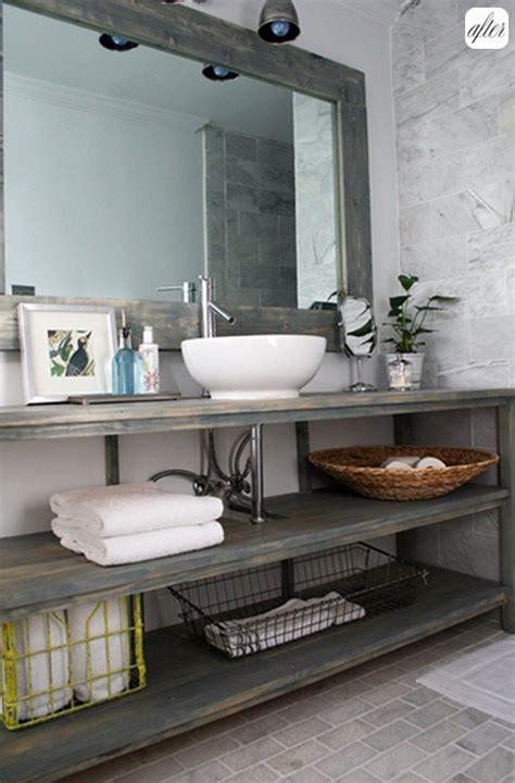industrial style bathroom vanity home decor rustic vintage industrial