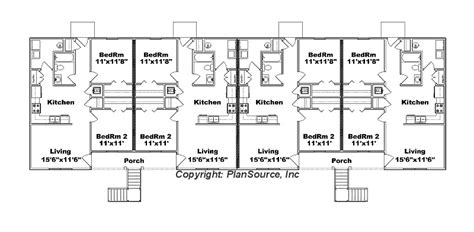 8 unit apartment building floor plans 8 unit apartment plan j778 8