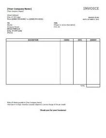 Free Simple Invoice Template Word by Simple Invoice Template Uk Printable Invoice Template