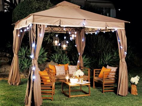 backyard with gazebo outdoor lighting for gazebos back yard patio ideas with