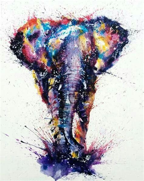 watercolor tattoo elephant splendid watercolor running elephant design
