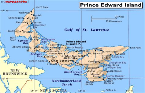prince edward island map of canada seedquest central information website for the global