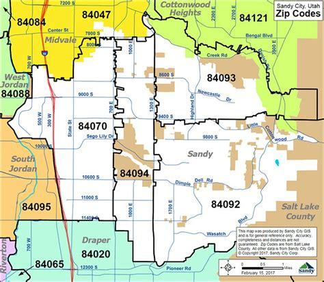 zip code map utah salt lake city zip codes sandy city ut