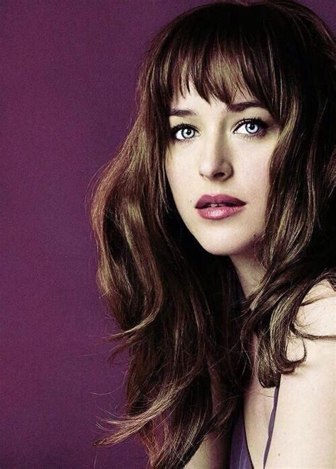 dakota johnson bangs anastasia steele