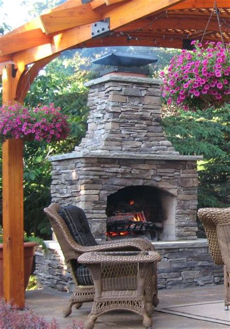 outdoor fireplace kit for the home pinterest