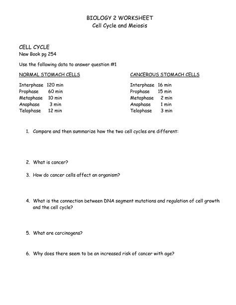 Cell Cycle Worksheet Answers by 18 Best Images Of Cell Cycle Labeling Worksheet Answers