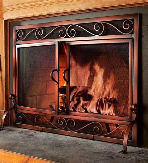 Screen Fireplace by Choosing Fireplace Doors Screen