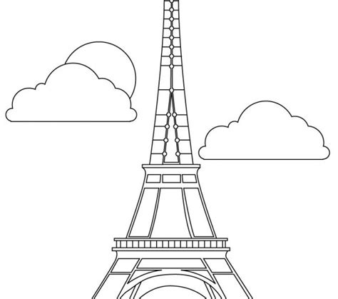Eiffel Tower Coloring Sheet Kids Coloring Europe Towers Coloring Page