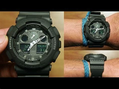 Promo Casio G Shock Ga 100mb 1a casio g shock ga 100mb 1a black edition