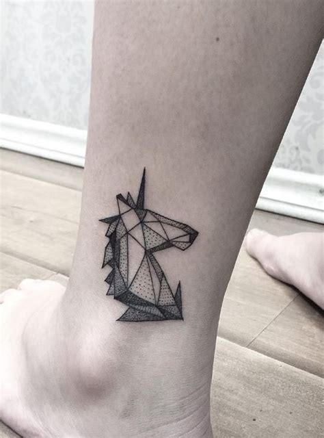 geometric unicorn tattoo inkstylemag