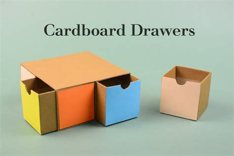 How To Make A Drawer Box Out Of Paper - cardboard drawers 2 tutorial creative diy