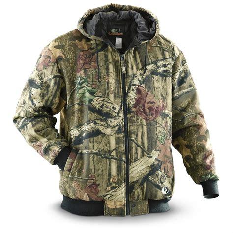 mossy oak jackets for walls 174 mossy oak 174 insulated quilted fleece hooded jacket