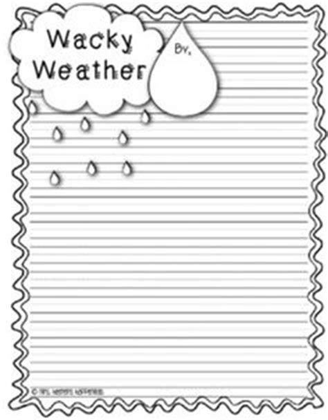 weather writing paper mrs heeren s happenings wacky weather stories cloudy