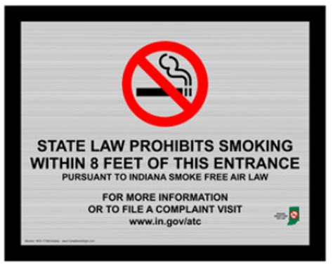 indiana no smoking signs printable compliancesigns com connection signs for july 1 indiana
