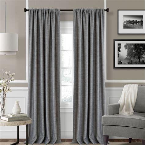 Faux Linen Curtains Pennington Lightweight Faux Linen Wide Curtains