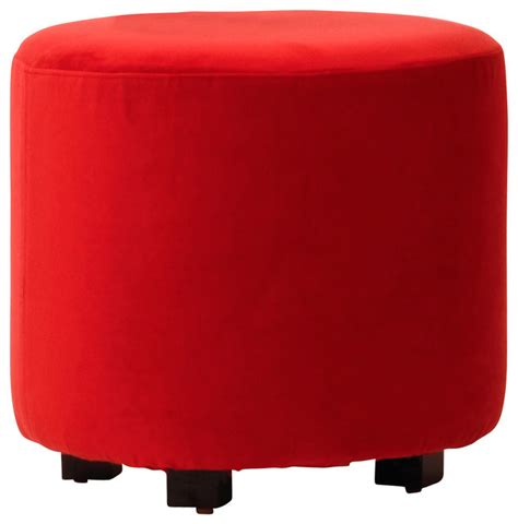 red velvet ottoman red velvet ottoman contemporary footstools and