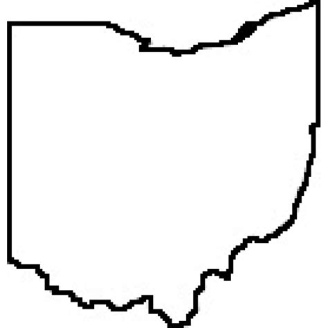 state of ohio state of ohio outline map rubber st