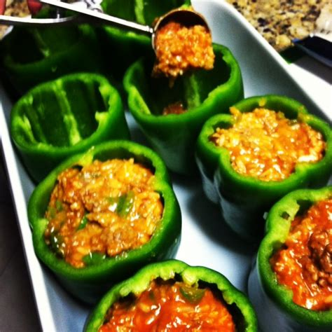 stuffed green peppers easy recipe bing images