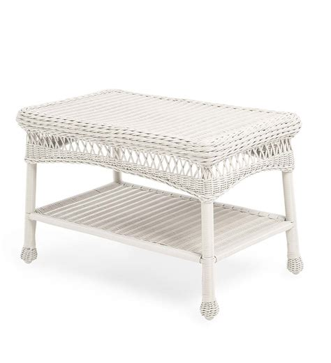 plow and hearth coffee table easy care resin wicker coffee table collection