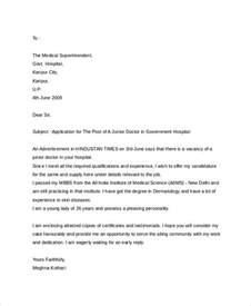 Business Letter Exle Application 8 Sle Application Letter For Doctors Free Premium Templates