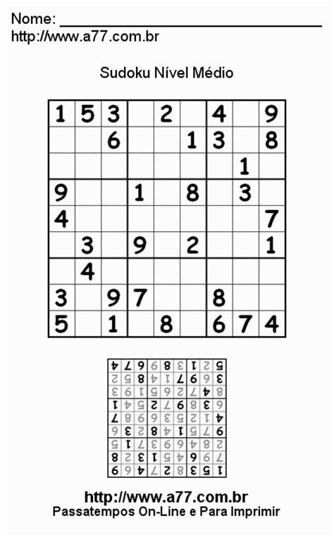 sudoku nivel medio quebra cabeca numerico sudoku n 237 vel m 233 dio quebra cabe 231 a num 233 rico