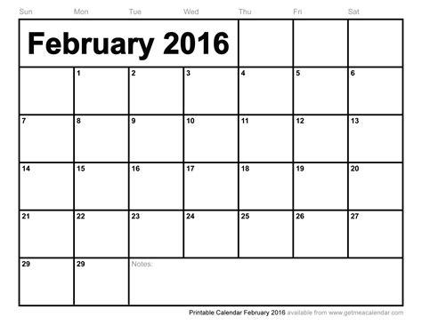 Printable Monthly Planner February 2016 | printable calendar february 2016
