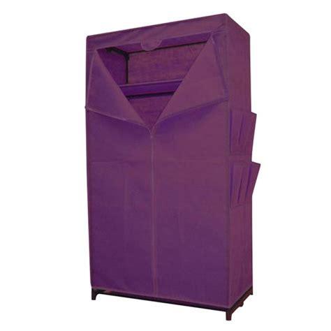 schrank lila stoffkleiderschrank lila mit ablage kleiderschrank