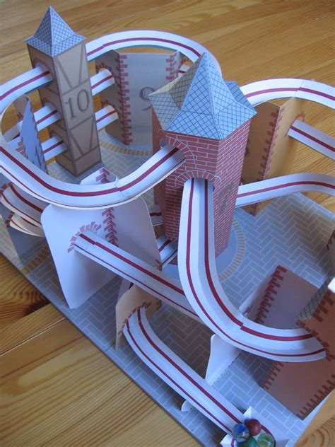 How To Make A Roller Coaster With Paper - lutz s web site paper model roller coaster roller