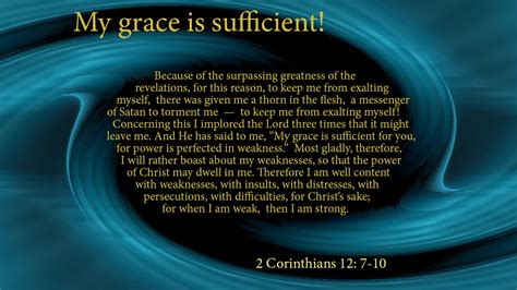 My Grace Is Sufficient For You Thoughts Of God