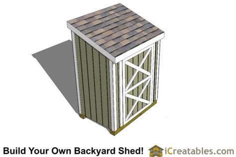 4x6 Shed Plans by 4x6 Lean To Shed Plans Diy Outdoor Sheds Icreatables