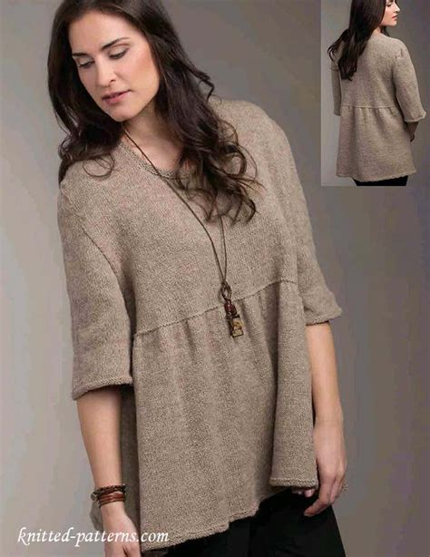 top knitting patterns empire waist top knitting pattern