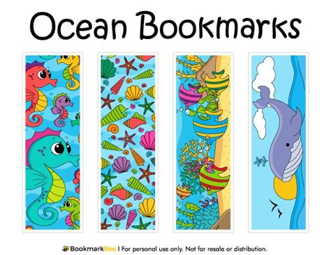 printable homemade bookmarks free printable ocean bookmarks download the pdf template