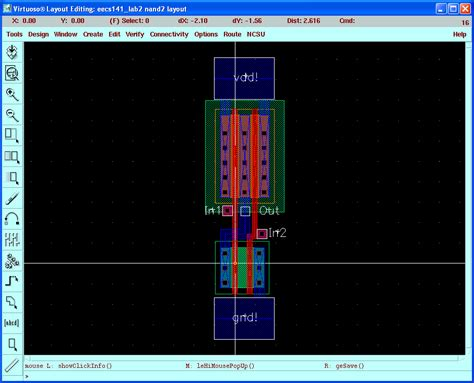 layout for nand gate virtuoso tutorial