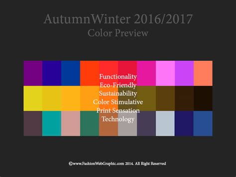 color trend 2017 aw2016 2017 trend forecasting on behance
