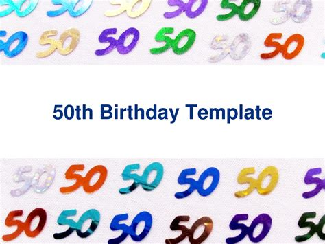 free 50th birthday card template free 50th birthday invitation templates