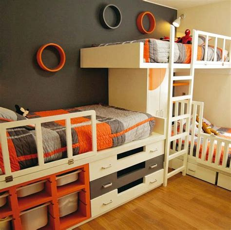 Bunk Beds With Three Beds 17 Best Ideas About Triplets Bedroom On 3 Bedroom Shared Rooms And Ikea Room
