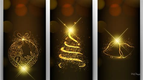 wallpaper christmas golden golden christmas bright wallpaper allwallpaper in 5894