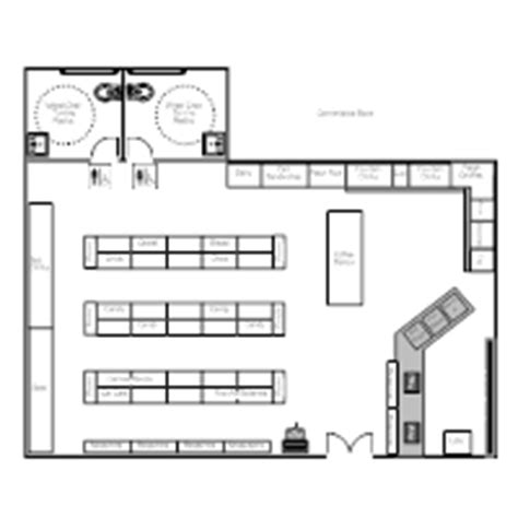 convenience store floor plan layout store layout exles