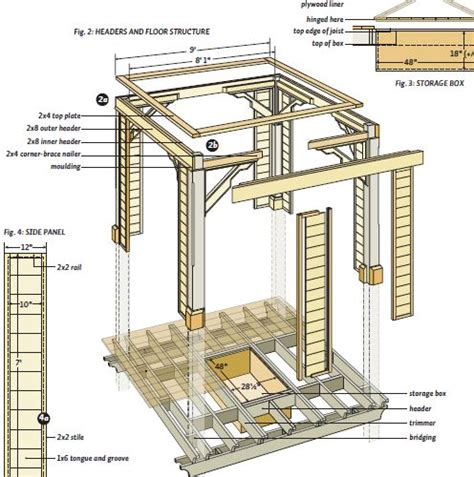 gazebo blueprints square gazebo plans blueprint