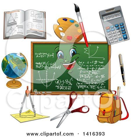 school supplies illustration inspiration pinterest clipart of a chalkboard and school supplies royalty free
