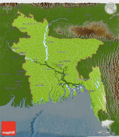 geographical map of bangladesh physical 3d map of bangladesh darken