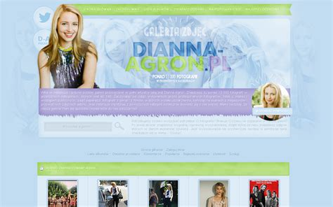 coppermine gallery themes free coppermine gallery theme with dianna agron by infrutescence