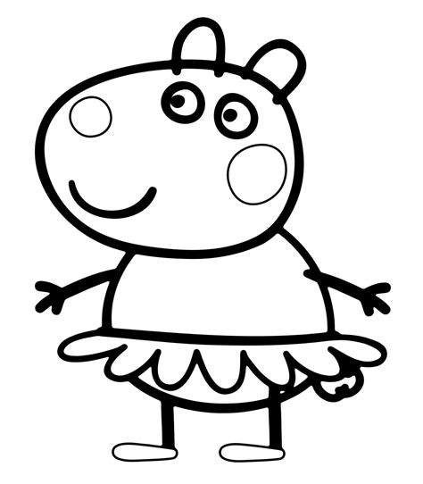 peppa pig coloring pages printable pdf peppa pig suzy sheep with the tutu
