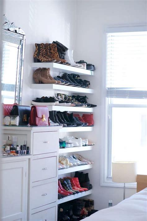 bookshelves for shoes 1000 ideas about shoe shelves on shoe racks