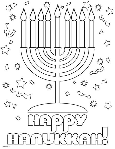 1000 images about hanukkah coloring pages on pinterest