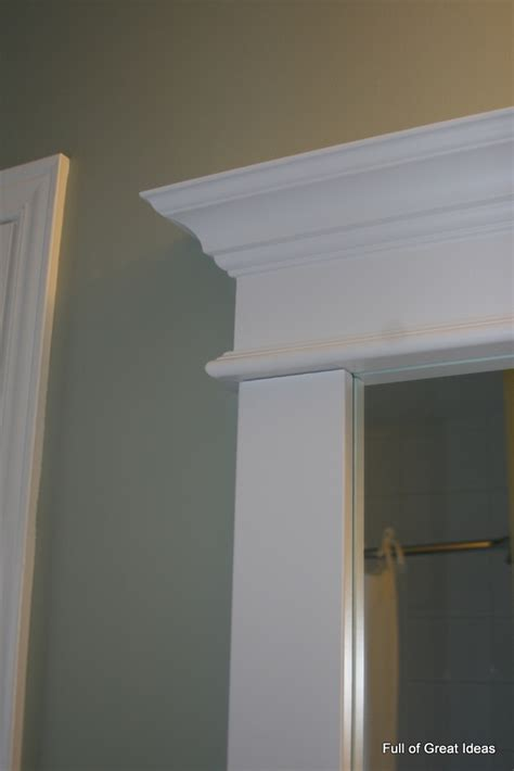Bathroom Mirror Molding Of Great Ideas Framing A Builder Grade Mirror That Is Not Between Two Walls