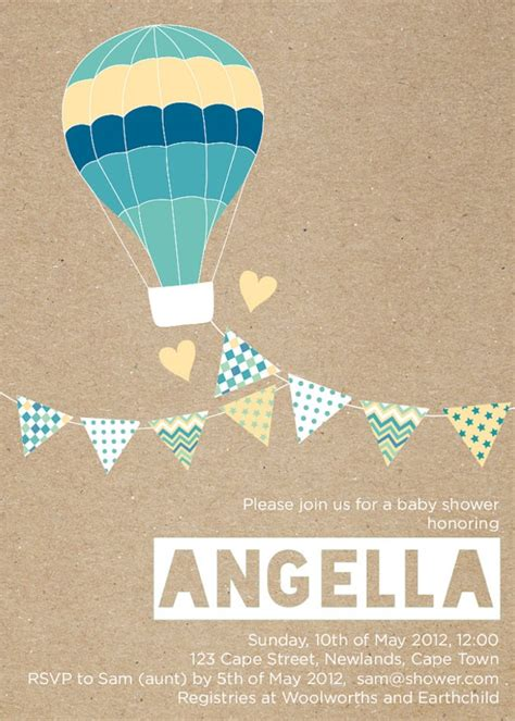 air balloon invitation template 18 best images about up up and away vintage baby shower on